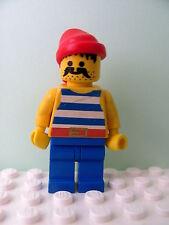 LEGO Minifig pi021 @@ Pirate Blue / White Stripes Shirt, Bandana 6260 6285 6286