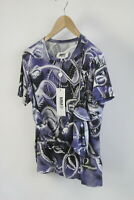 RRP€445 MM6 MAISON MARGIELA Women X SMALL Patterned Knot Detail Blouse Top 5141*