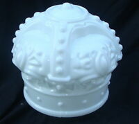 "Reproduction White Crown Gas Pump Globe approx 16""w x 16""h"