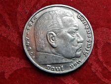 Silbermünze DEUTSCHES REICH 5 REICHSMARK HINDENBURG 1937 D Münze , HK