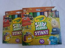 2 New Crayola Silly Scents Stinky Scented Markers 10 Count Washable Markers