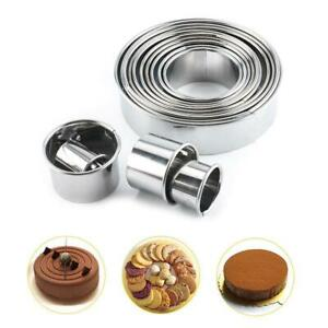 14X Cutters Circle Baking Metal Ring Molds Round Cookie Biscuit Cutter Set