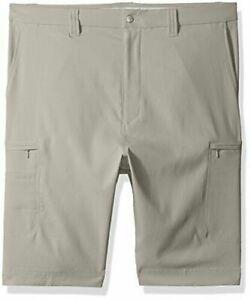 "Callaway Men performance shorts 30"" waist Beige khaki Silver lining pockets New"