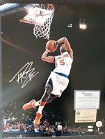 Tim Hardaway Jr Autographed Signed 16x20 New York Knicks Steiner Fanatics COA