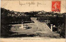 CPA LYON Monument des Enfants du Rhone et Coteau St Clair (442241)