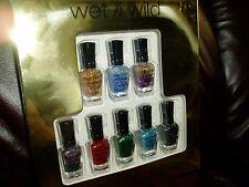 """NIB, WET N WILD,SET OF 8 NAILPOLISH"", 0.17fl oz each bottle, fashionable colors"