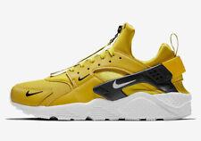 Nike Air Huarache Run PRM Zip SZ 13 Bright Citron White Black BQ6164-700