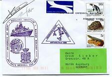 1996 Neumayer Station Zoology Inst. Gent Weddel Polar Antarctic Cover SIGNED