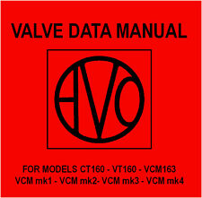 Avo Valve Data Manual - DVD - Characteristics Meter Tube Tester - all AVO models