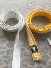 White-yellow & White Childs Karate Belt Martial Arts Judo, Jujitsu, Aikido
