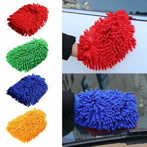 2pcs/pack Car Wash Mitt Dust Remove Large Tools Ultra Soft Cleaning Glove