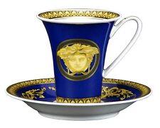 VERSACE MEDUSA BLUE CUP SAUCER HIGH SET NEW ROSENTHAL  SALE RETAIL $300