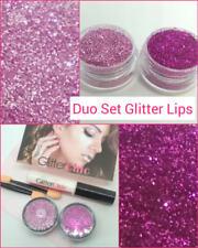 Glitter Lips Lipstick Hot Pink& Pink Pops Loose Glitter Duo Set 3 Party Hen Xmas