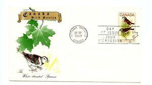 Canada FDC #496 Jackson Chickering Cachet Birds Sparrow UA 1969 98-1