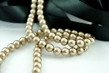 110PCS 8mm Glass Pearl Gold Color Round Imitation Loose Pearl Beads Spacer