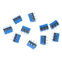 10X KF301-3P Pitch 5.0mm Straight Pin PCB 3Pin Screw Terminal Block ConnectoYNUK