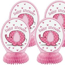 Baby Shower Elefant Wabendeko pink