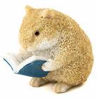 Miniature FAIRY GARDEN Figurine ~ MINI Hamster Reading a Book