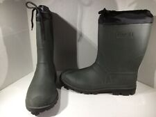 Kamik Mens Sz 14 Hunter Green Rubber Insulated Winter Snow Boots Shoes F12-728