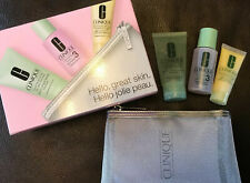 Clinique gift set Hello, great skin face cream lotion 3  oily skin