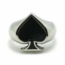 Fashion Men Boys Cool Spades Gothic Party Punk Metal Party Skeleton Rings Gifts