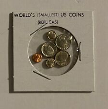 """World'S Smallest"" - Mini U.S. Coins Set In Holder"