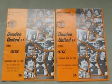 **LOOK** 2 x Very Nice Vintage DUNDEE UNITED v Celtic FOOTBALL Programmes 1980