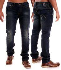Stonewashed L36 Herren-Jeans aus Denim mit mittlerer Bundhöhe
