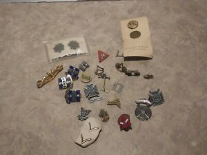 Assorted Mixed lot of Military Pins and Rank Insignia Pins