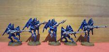 Citadel Games Workshop Warhammer40k Dark Eldar Scourges x5 Metal Oop Painted