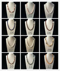 10mm Women Sea Shell Pearl Handmade Round Beads Pendant Necklace Girls Gift 18""