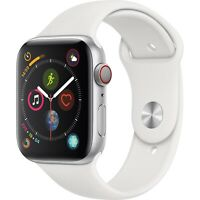 Apple Watch Series 4 GPS+CELL 44mm Silver Aluminum White Sport Band MTUU2LL/A