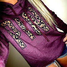 Women's Hoodies Pink Printed Hoodie Frenchterry Sweatshirts Pullover Hooded Tops
