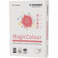 STEINBEIS A4 MAGIC PRINTING PAPER PINK 80gsm 3 REAMS 1500 SHTS 100% RECYCLED