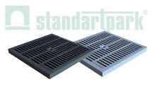 Standartpark - 12x12 inch plastic grate for water inlet- Black only trench drain