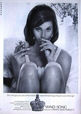1966-8 'WIND SONG' by Prince Matchabelli Woman's Perfume Advert - Photo Print AD