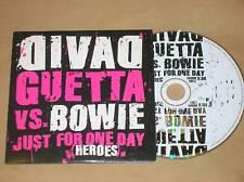 CD PROMO 1 TITRE / DAVID GUETTA VS DAVID BOWIE / HEROES