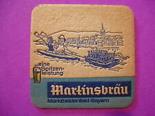 Vintage Beer Bar COASTER ~*~ MARTINSBRAU Bier ~ Marktheidenfeld, Bayern, GERMANY