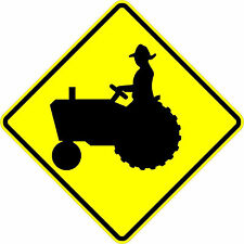 Tractor crossing sign - 18 x 18. A Real Sign. 10 Year 3M Warranty.