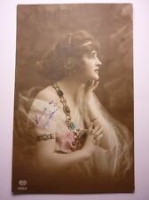 Antique Bulgarian Postcard Conceived Woman 1914