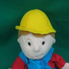 LILLIAN VERNON BLUE CARPENTER TOOLBELT HARDHAT PUPPET PLUSH STUFFED ANIMAL