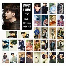 30pcs /set Kpop Lee Jong Suk Photo Picture Posters Postcard Lomo Card