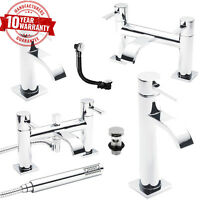 Contemporary Chrome Bathroom Taps Incl, Basin, Bath And Bath Shower Mixers Taps