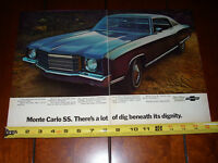 1970 CHEVROLET MONTE CARLO SS - ORIGINAL 2 PAGE AD