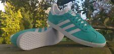 Adidas Originals Gazelle Fashion Trainers Turquoise UK 9 EU 43.3 US 9.5  Item 44