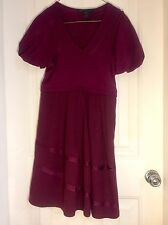 MARC BY MARC JACOBS Wine Maroon Purple Puffy Cap Sleeve Dress Size 6