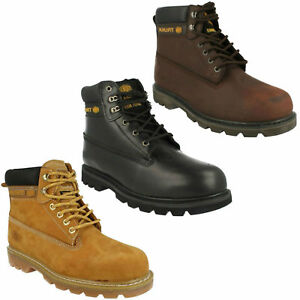 TRUKA UNISEX WL 02 LEATHER LACE UP SAFETY SHOES STEEL TOE CAP WORK ANKLE BOOTS