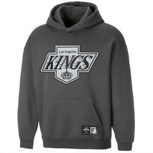 Los Angeles Kings NHL Applique Logo Oversized Hoodie Jumper - Gunmetal Grey
