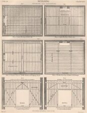 BUILDING FLOORING & PARTITIONS Single Joists Binders Girder Bridging boards 1898