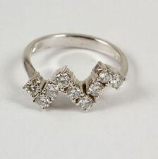 Reinheit IF Echte Diamanten-Ringe aus Weißgold